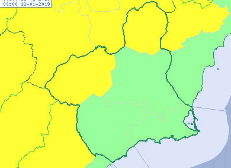 Down to minus 7 degrees in northern Murcia on Friday morning