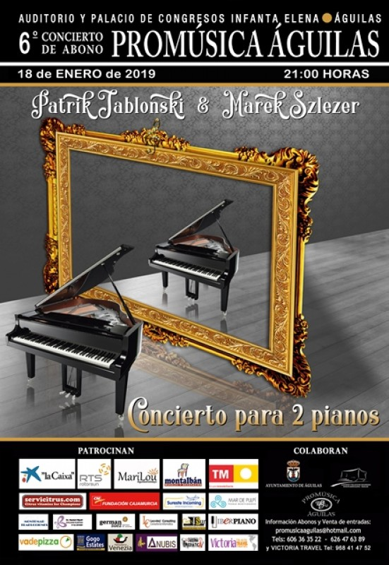 18th January Águilas Chamber music with piano due at the Infanta Elena Águilas