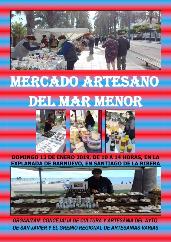 13th January Artisan market of the Mar Menor in Santiago de la Ribera