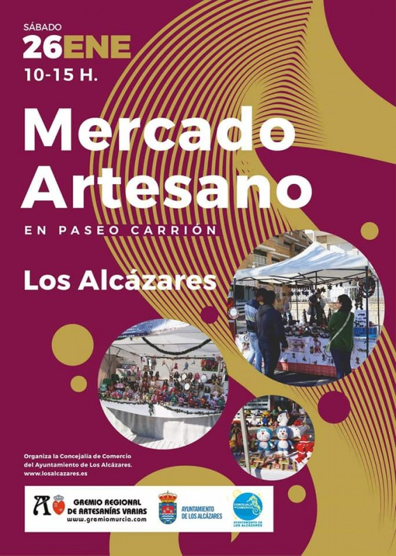 Saturday 26th January Artisan Market in Los Alcázares