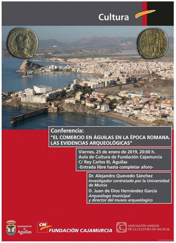 Friday 25th January: Talk about Roman commerce in Águilas