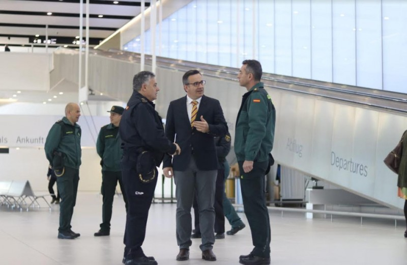 Major security operation prior to King of Spain opening Corvera airport on Tuesday