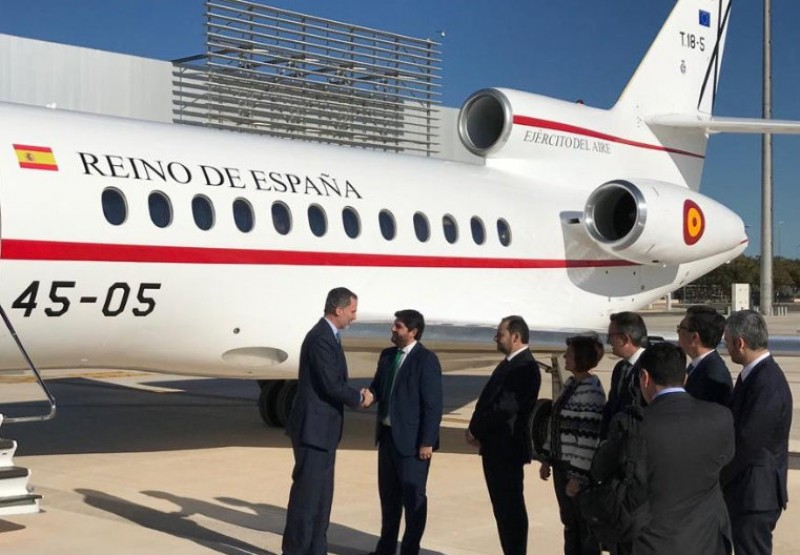 King Felipe VI officially declares Corvera airport open
