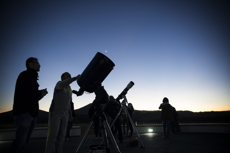 26th January evening visit to the astronomical observatory in Puerto Lumbreras