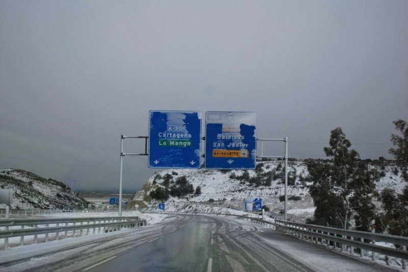 More cold mornings over the weekend two years after the historic snowfall in the Costa Cálida