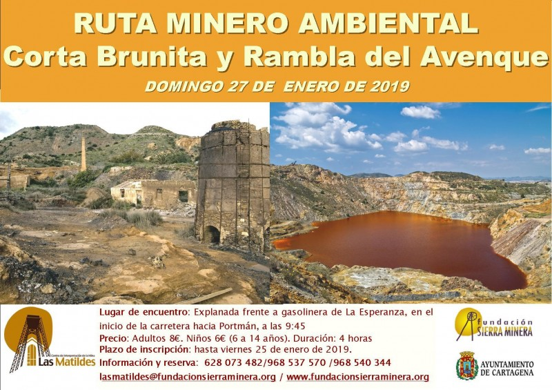 <span style='color:#780948'>ARCHIVED</span> - Sunday 27th January 2019 Guided walk in the mining area of Portmán