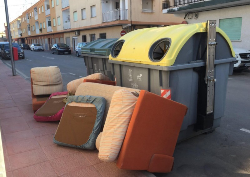 San Javier residents continue to dump furniture in the streets