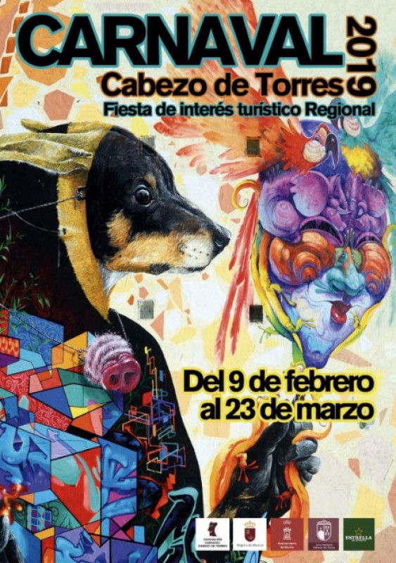 <span style='color:#780948'>ARCHIVED</span> - 120-square-metre poster for the Cabezo de Torres Carnival this year!