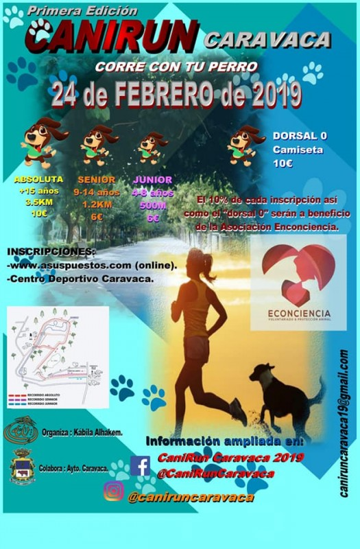 <span style='color:#780948'>ARCHIVED</span> - 24th February Canirun Caravaca de la Cruz: running race with dogs