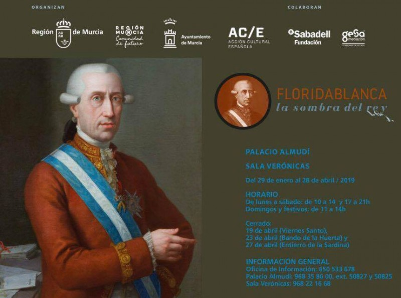 "<span style='color:#780948'>ARCHIVED</span> - 29th January to 28th April, ""Floridablanca, La Sombra Del Rey"" art exhibition in the Sala Verónicas and the Palacio Almudí in Murcia"