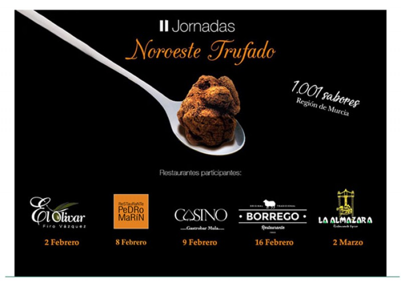 2nd February to 2nd March 2019; Special set menus focusing on the truffle in north-west Murcia