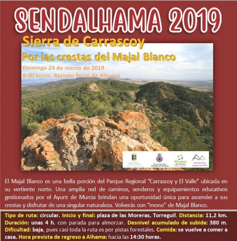 <span style='color:#780948'>ARCHIVED</span> - 17th February 11km guided walk in the Sierra Espuña with Sendalhama
