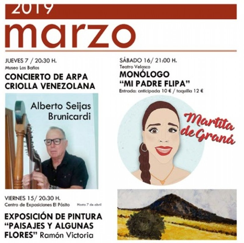 <span style='color:#780948'>ARCHIVED</span> - 7th March free entry harp recital at the Archaeological Museum in Alhama de Murcia