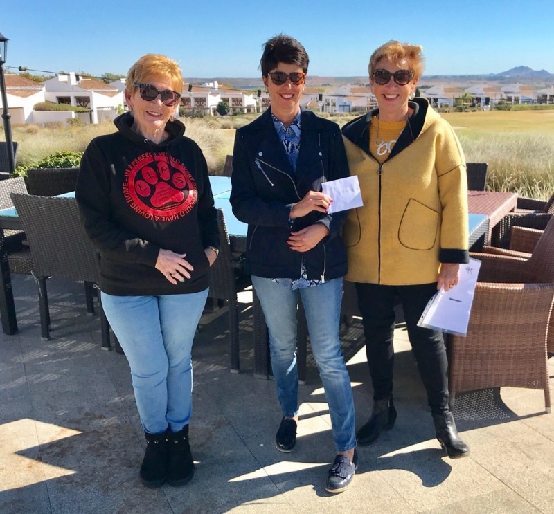 <span style='color:#780948'>ARCHIVED</span> - The Cat Ladies of El Valle Golf Resort donate 1500 euros to local animal charities