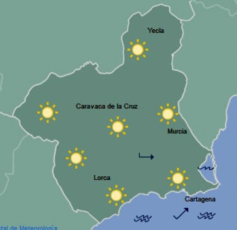 Murcia warmer than the Canaries as the glorious early spring continues