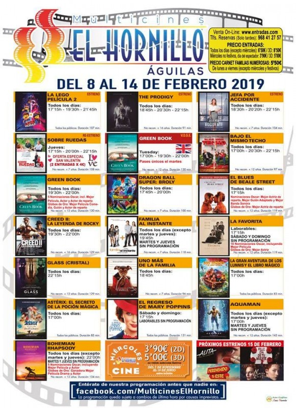 12th February Cinema in English in Águilas: Green Book