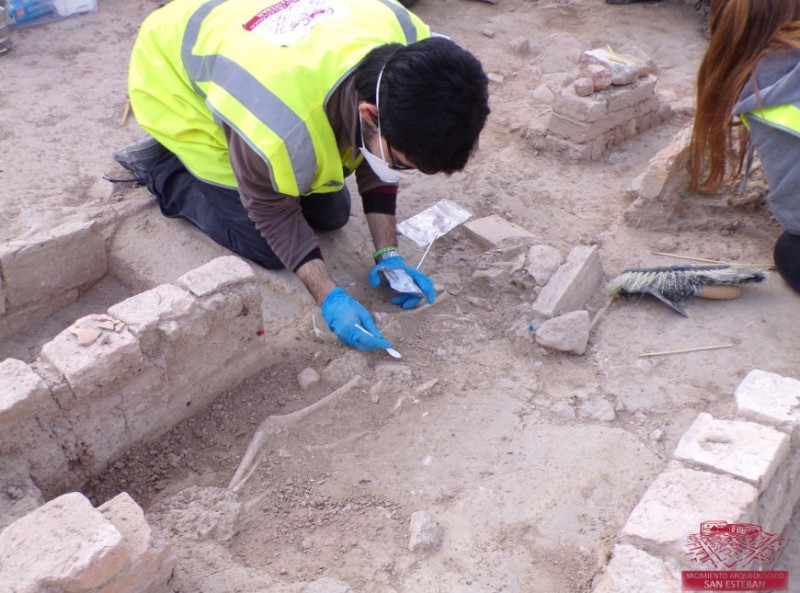 30 cemetery graves found in the excavation of the Moorish San Esteban site in Murcia