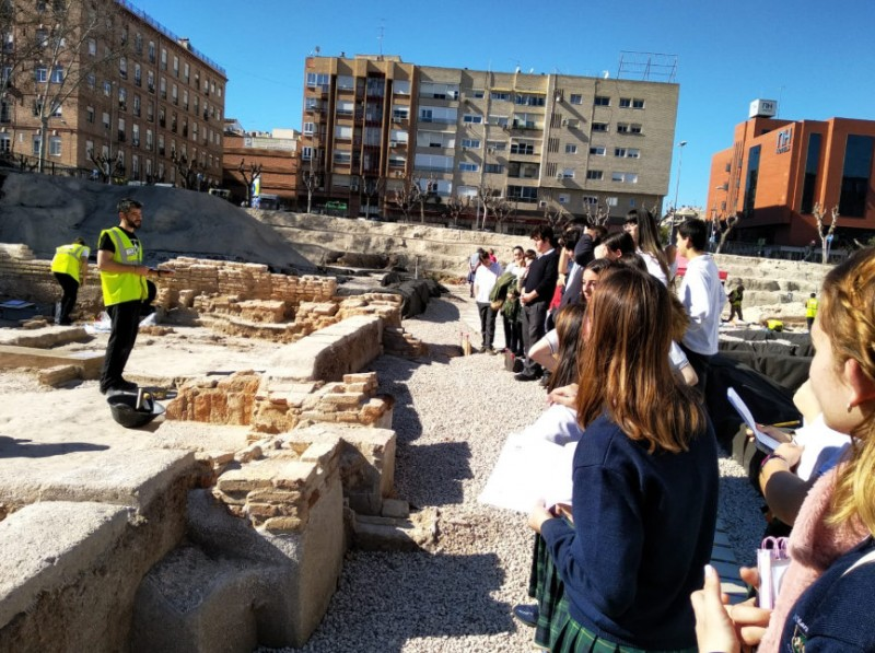 Free weekday guided visits to the San Esteban archaeological dig in the centre of Murcia