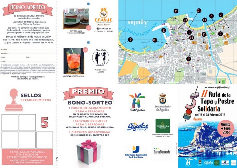 <span style='color:#780948'>ARCHIVED</span> - 15th to 28th February Águilas charity tapas route