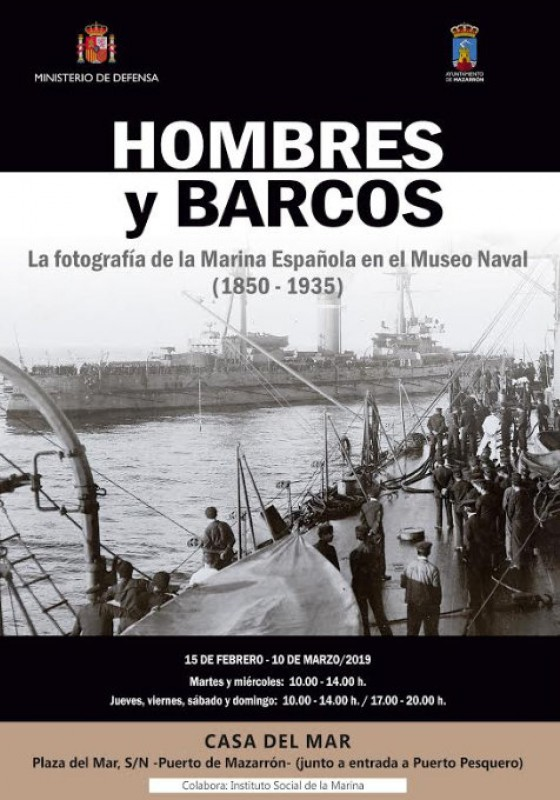<span style='color:#780948'>ARCHIVED</span> - 15th February to 10th March, Hombres y Barcos, photographic exhibition in Puerto de Mazarrón