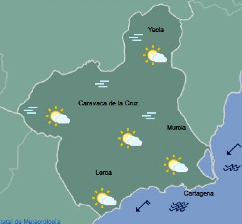 Cooler in the Costa Cálida as temperatures return to the norm for February