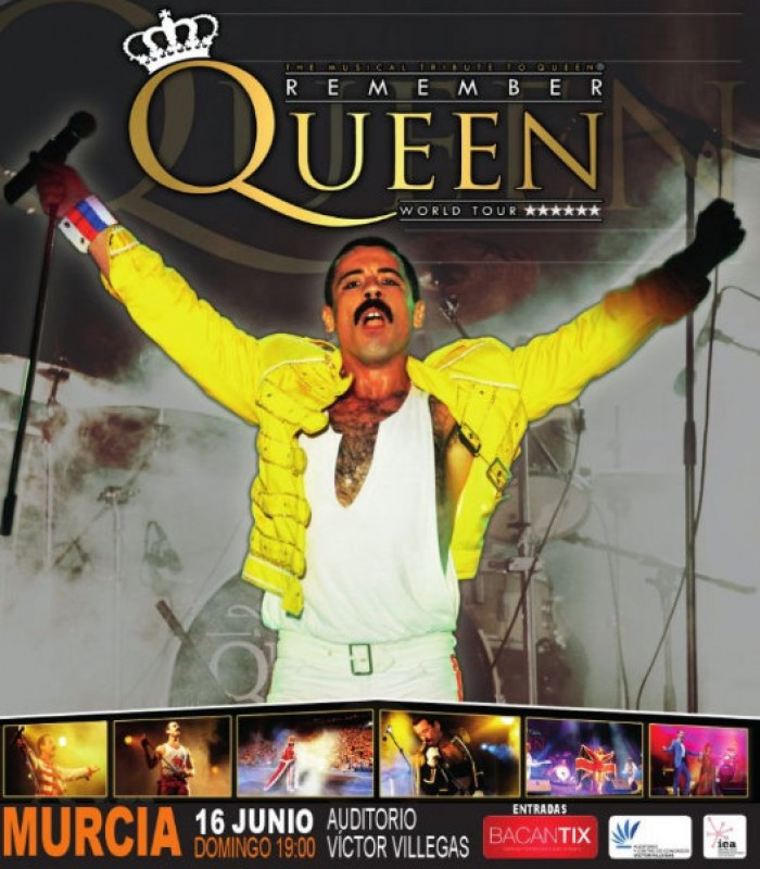 <span style='color:#780948'>ARCHIVED</span> - 16th June, Remember Queen tribute show at the Auditorio Víctor Villegas in Murcia
