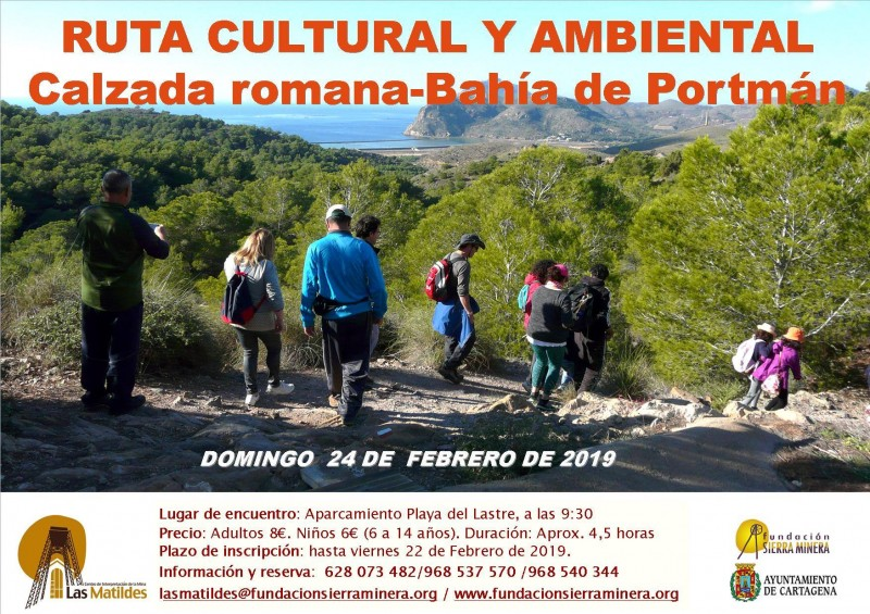 <span style='color:#780948'>ARCHIVED</span> - Sunday 24th February guided walking route: follow the footsteps of the Romans in Portmán
