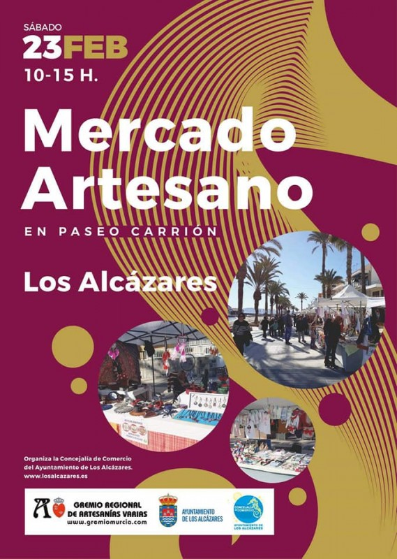 <span style='color:#780948'>ARCHIVED</span> - Saturday 23rd February Artisan Market in Los Alcázares