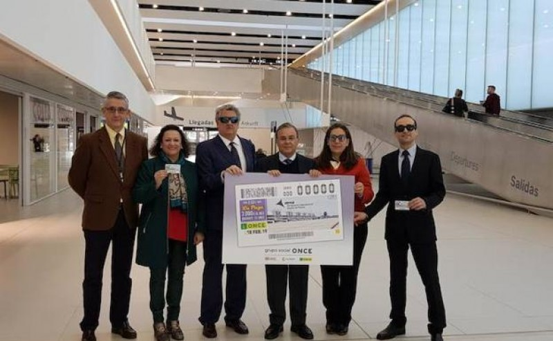 Corvera airport featured on ONCE lottery tickets