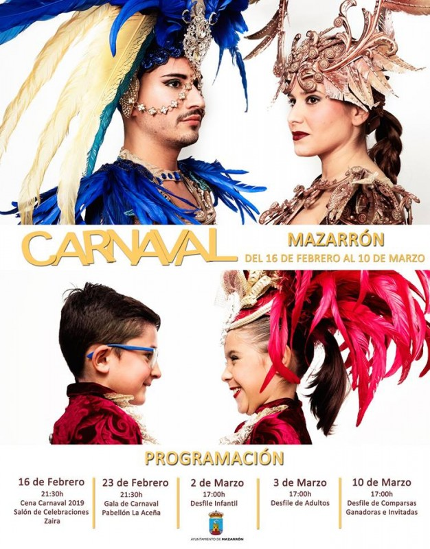 2nd to 10th March Carnival in Mazarrón