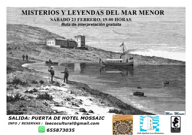 Saturday 23rd February Los Alcázares: Free tour to discover the mysteries and legends of the Mar Menor