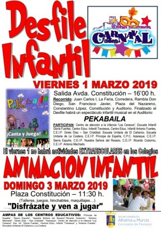 <span style='color:#780948'>ARCHIVED</span> -  1st to 9th March Alhama de Murcia Carnival