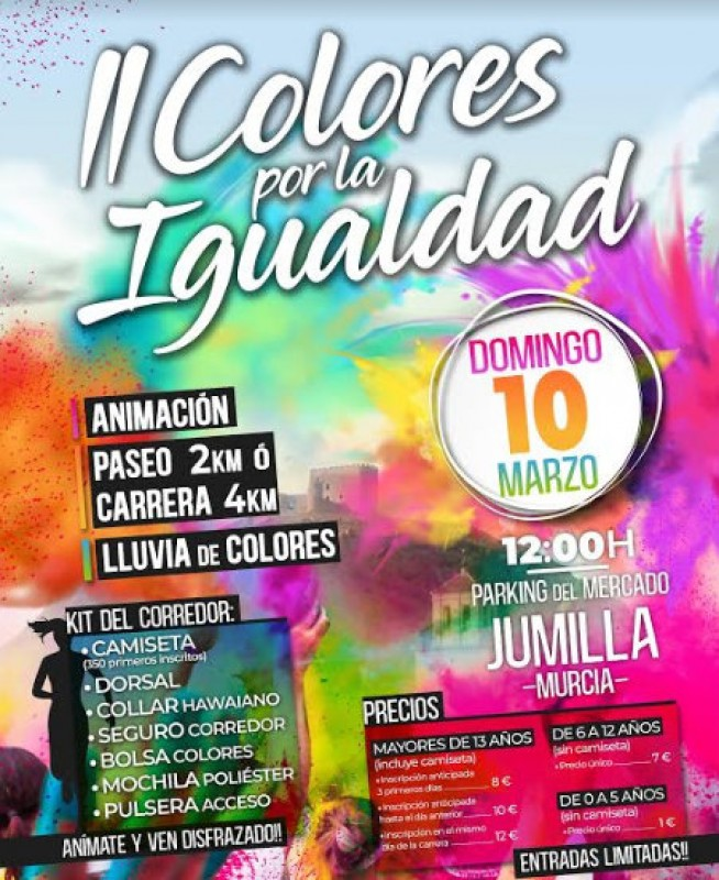 <span style='color:#780948'>ARCHIVED</span> - 10th March, colour fun run and walk for gender equality in Jumilla