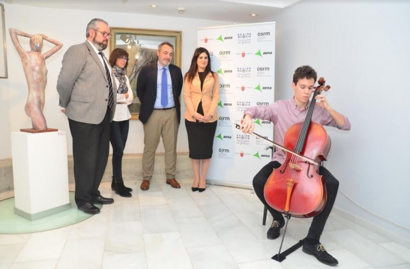 Chamber music concerts in the terminal building at Corvera airport!