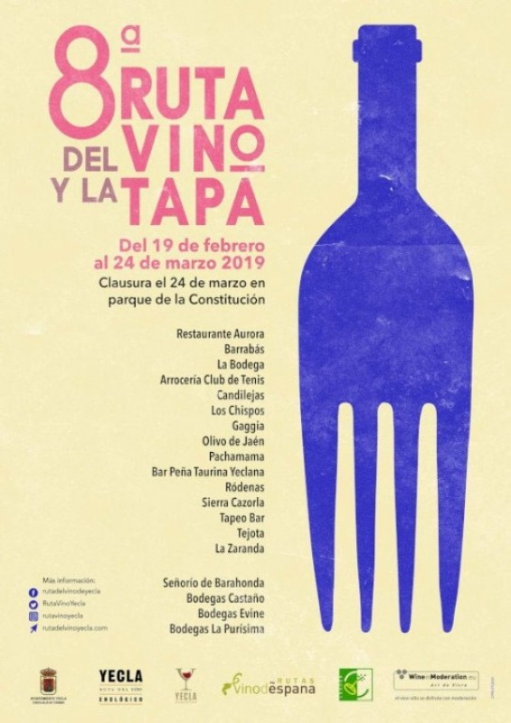 19th February to 23rd March Yecla Tapas Route