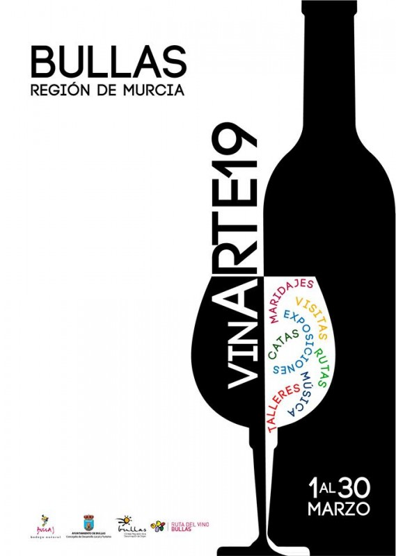 1st to 30th March Vinarte in Bullas offers tours, wine tastings and concerts