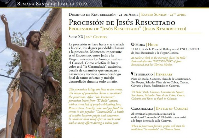 <span style='color:#780948'>ARCHIVED</span> - 12th to 21st April 2019 Semana Santa in Jumilla