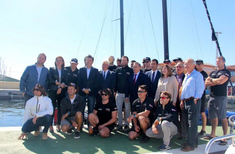 <span style='color:#780948'>ARCHIVED</span> - Sir Ben Ainslie and the UK America's Cup team are preparing in the Mar Menor