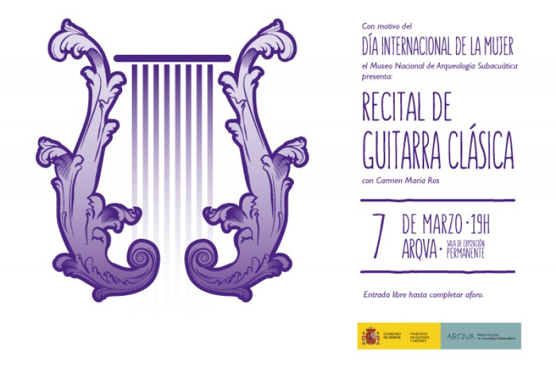 <span style='color:#780948'>ARCHIVED</span> - Thursday 7th March Free entry classical guitar concert in the ARQUA Museum Cartagena