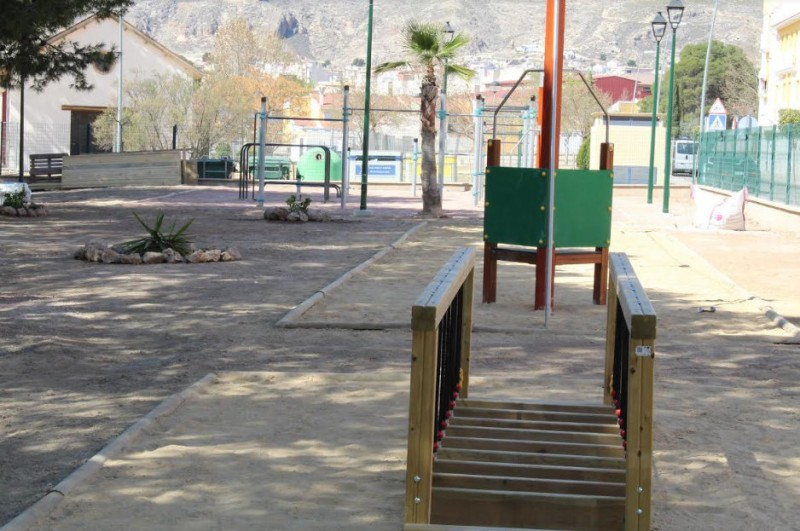 The first natural playground in Murcia is close to completion in Jumilla