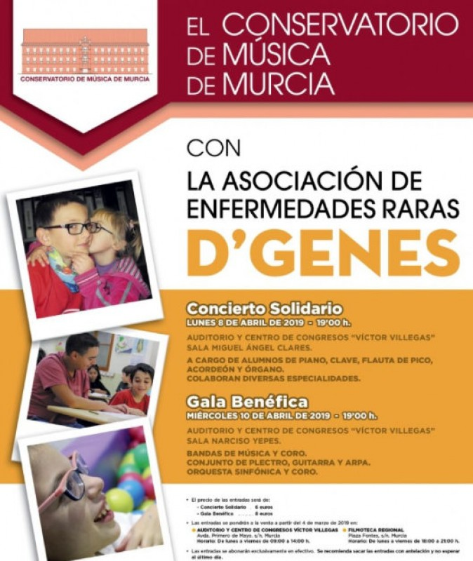 8th April, charity classical music concert at the Auditorio Víctor Villegas in Murcia
