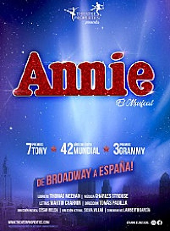 <span style='color:#780948'>ARCHIVED</span> - 1st to 3rd November, Annie the musical at the Auditorio Víctor Villegas in Murcia