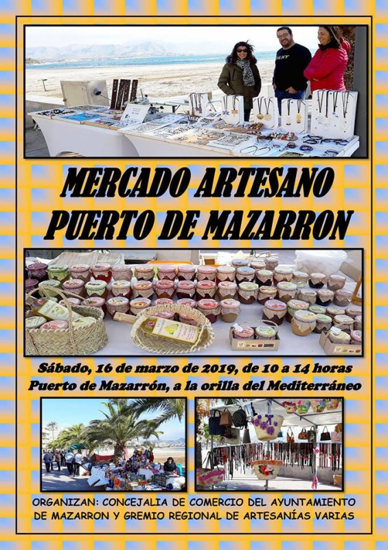 <span style='color:#780948'>ARCHIVED</span> - Saturday 16th March Puerto de Mazarrón artisan market