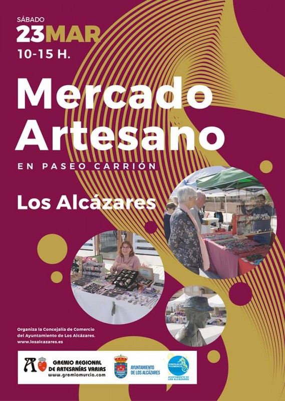 <span style='color:#780948'>ARCHIVED</span> - Saturday 23rd March Artisan Market in Los Alcázares