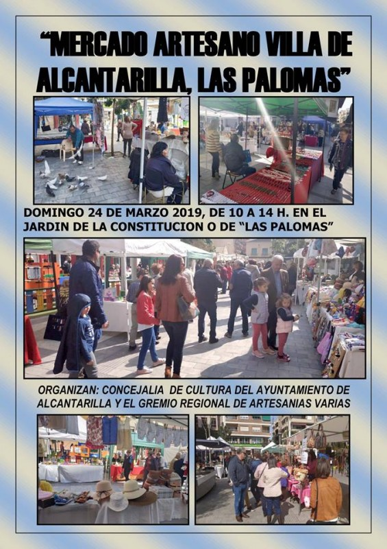 <span style='color:#780948'>ARCHIVED</span> - Sunday 24th March 2019 Artisan market in Alcantarilla