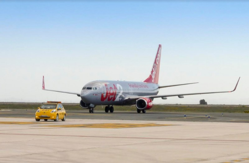 Jet2 training flights at Corvera airport in preparation for summer services
