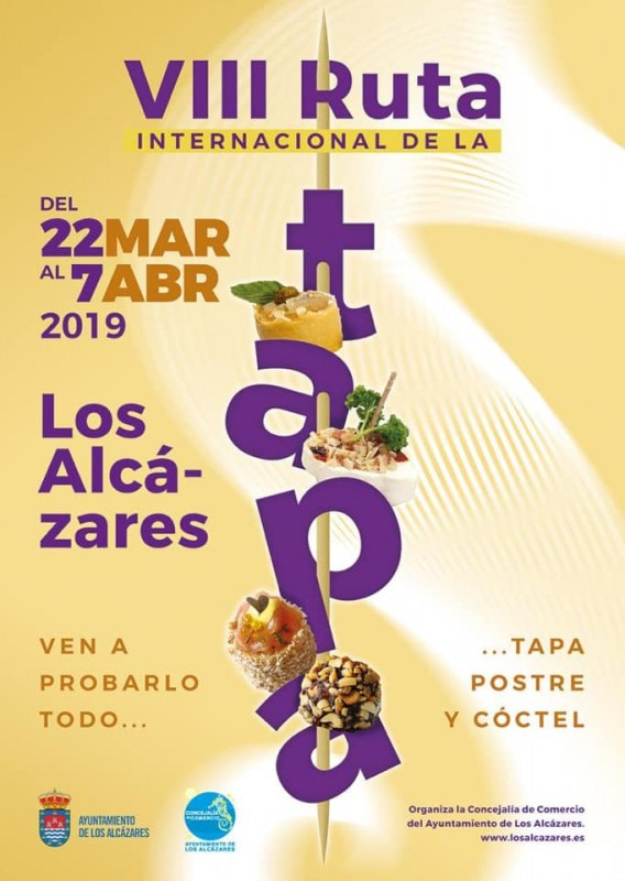 <span style='color:#780948'>ARCHIVED</span> - 22nd March to 7th April: Los Alcázares Tapas Route