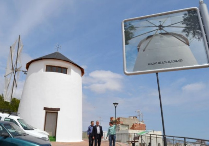 Molino de los Alacranes, a restored windmill in the centre of Águilas