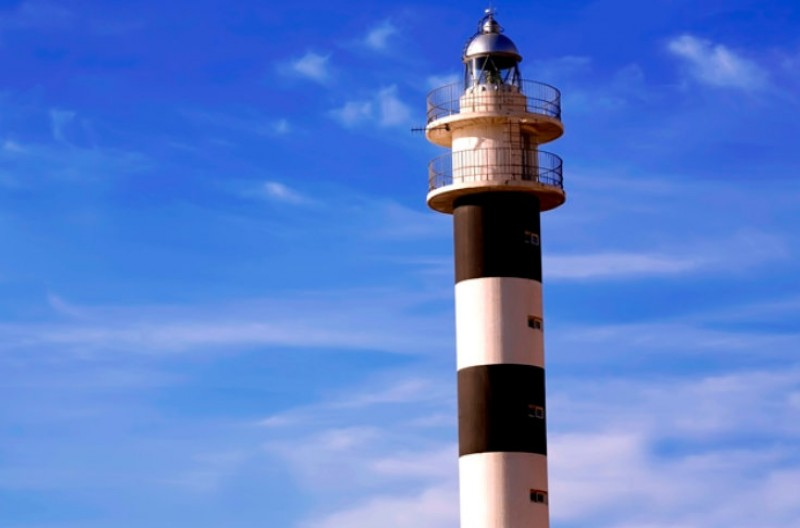 The lighthouse of Punta Negra in Águilas