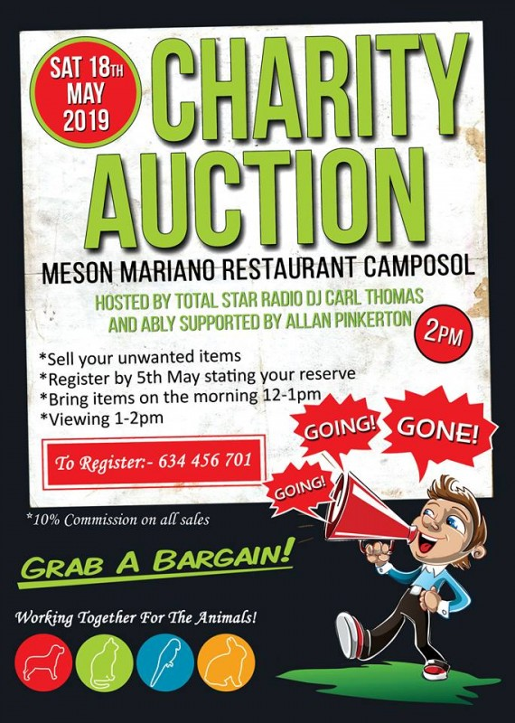 <span style='color:#780948'>ARCHIVED</span> - Saturday 18th May Charity Auction on Camposol